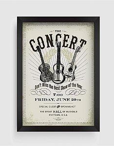 Quadro Decorativo Musical Vintage The Concert Invite