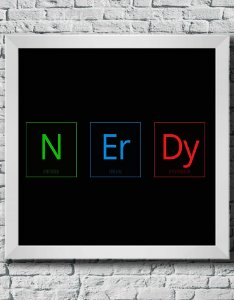 "Quadro Decorativo Geek- ""Nerdy"""