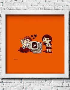 Quadro Decorativo Geek- Geek Love.