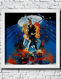 """Quadro Decorativo Filmes e Séries- James Bond 007 """"Diamonds are forever 1971"""""""