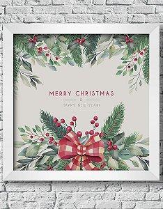 Quadro Decorativo Decoração de Natal Merry Christmas