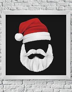 Quadro Decorativo Decoração de Natal Santa Claus Mask