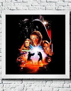 Quadro Decorativo Filmes e Séries- Star Wars Episódio 3- A vingança dos Sith.