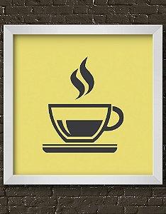Quadro Decorativo Hot Coffee Cup Icon