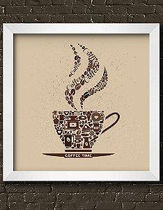 Quadro Decorativo Coffee Time Illustration