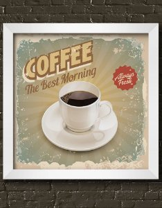 Quadro Decorativo Vintage Coffee The Best Morning