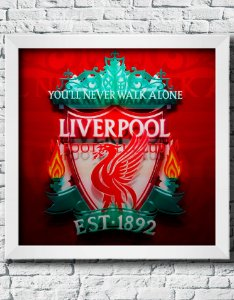 Quadro Decorativo Times de Futebol- Liverpool Football Club.