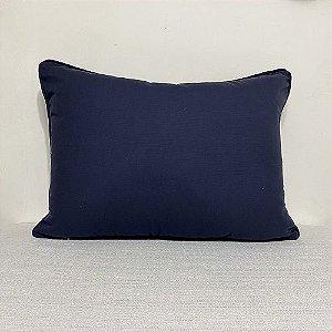 Porta Travesseiro Cotone Azul Marinho