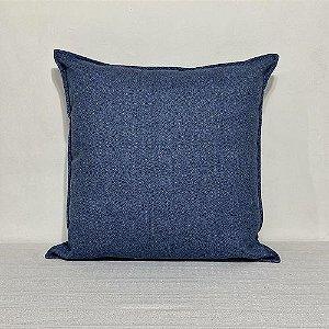 Capa Para Almofada Com Aba Antibes Liso Azul Jeans
