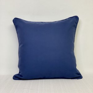 Capa Para Almofada Brim Azul Com Vivo