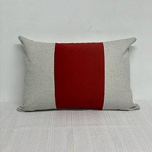 Capa Para Almofada Listra Vertical Vermelha
