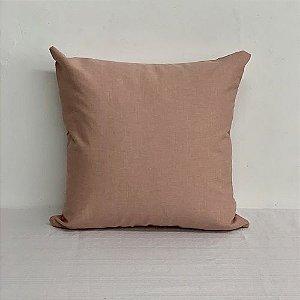 Capa Para Almofada Liso Cotone Rosa Blush