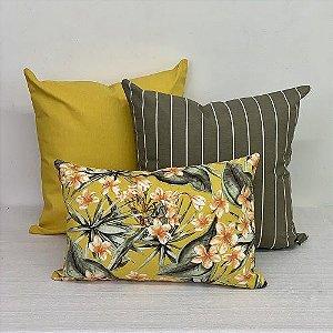 Kit Impermeável Flores Amarelo