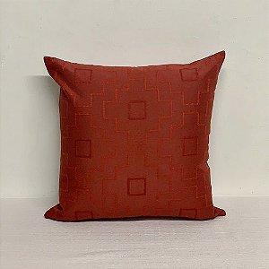 Capa Para Almofada Vermelha Bordada Floco