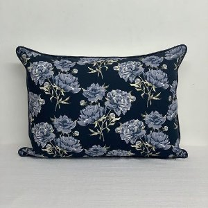 Porta Travesseiro Florata Flores Marinho