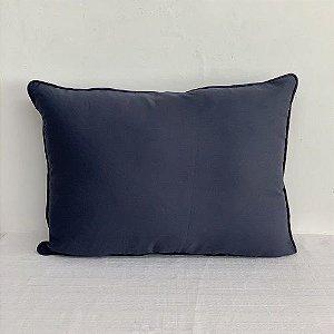 Porta Travesseiro Lys Azul Marinho