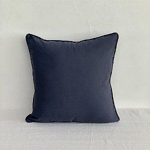 Capa Para Almofada Com Vivo Lys Azul Marinho