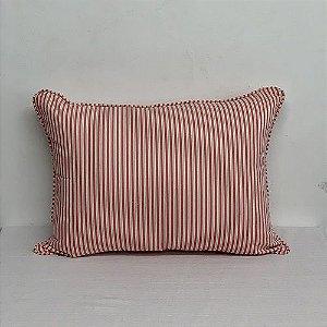 Porta Travesseiro Listrinha Rosa Seco e Limão