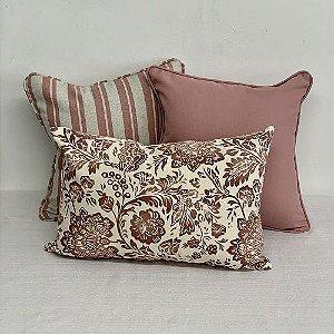 Kit Baguete Cotone Flores Rosa Blush