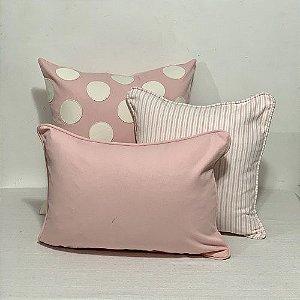 Kit Bolas Bordadas Rosa BB e Baguete