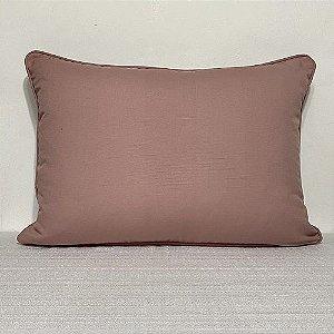 Porta Travesseiro Cotone Liso Rosa Blush