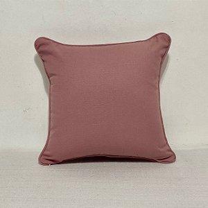 Capa Para Almofada Com Vivo  Cotone Liso Rosa Blush