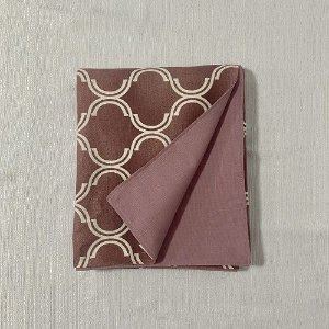 Peseira Dupla Face Cotone Geométrico Rosa Blush