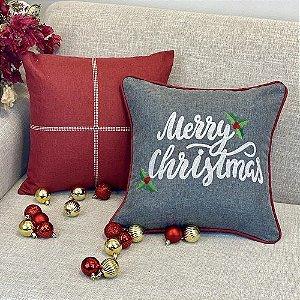 Kit Merry Christmas Chumbo Com Vermelho