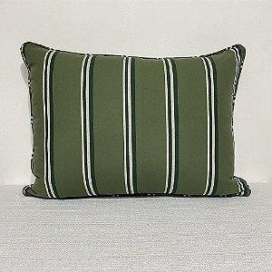 Porta Travesseiro Listra Verde Escoces