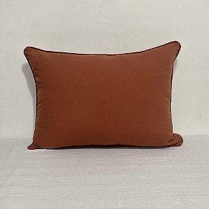 Porta Travesseiro Cotone Liso Terracota