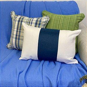 Kit Padrão Xadrez Azul e Verde