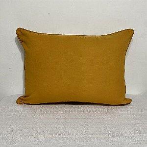 Porta Travesseiro Cotone Amarelo Curry