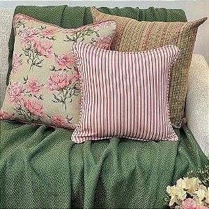Kit Big Florata Flores Rosé e Listradinho