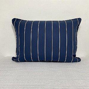 Porta Travesseiro Risca de Giz Azul Marinho