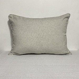 Porta Travesseiro Liso Natural Linho