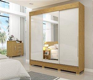 Guarda Roupa casal -Solto com 3 portas de corre + espelho visão móveis