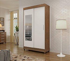 Guarda-roupa Apiúna-2-portas de corre+ espelho -visão móveis