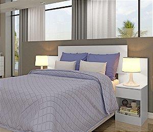 Cabeceira casal  Itá com medidas para cama 138 e 158 visão móveis