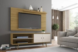 Conjunto Rack Onix Com Painel Para TV Sala Chanel - Moveis bechara