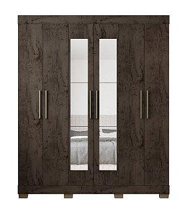 Guarda Roupa 2062 6 Portas com Espelho 2 Gavetas
