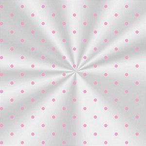 100 Saquinhos celofane Transparente Poá Rosa 10cm x 14cm