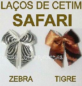 Laços de Cetim nº 2 Safari - Pacote com 50 unidades