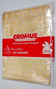 100 unid. Saquinho Cromus para Lembrancinha 10 cm x 14 cm