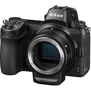 Camera Nikon Z6 com adaptador ftz
