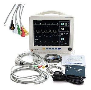 Monitor Multiparamétrico Sinais Vitais Batimento Cardíaco Carejoy RPM-9000A