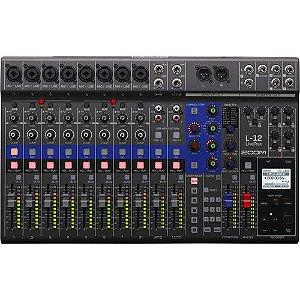 Mesa De Som Mixer E Gravador Zoom L12 Livetrak