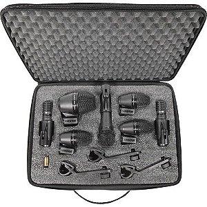 Microfone Dinâmico Shure Pgadrumkit7 Pgadrum Kit 7 Peças Para Bateria