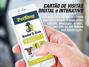 Cartão de Visita Digital e Interativo Personalizado