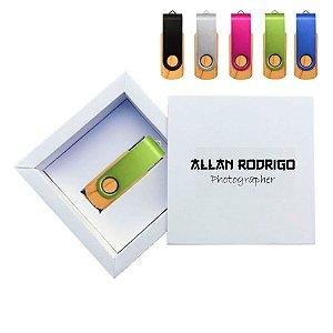 Kit Wooden Colors White  - Pendrives para Fotógrafos Personalizados