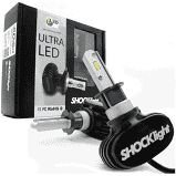 Kit Lampada Ultra Led Titanium Shock Light H1,H3,H7,H8,H11,H27,HB3,HB4 8000 Lumens